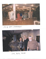 Jun Kanekos storeroom and Jun Kaneko, Peter Voulkos, and Rudy Autio
