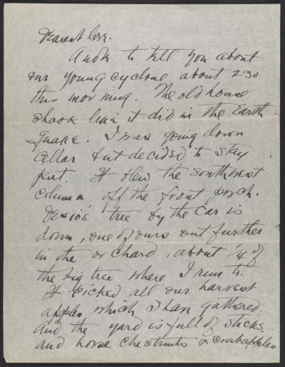[Arthur Garfield Dove letter to Helen Torr Dove]