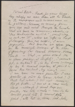[Oscar Bluemner letter to Arthur Garfield Dove ]