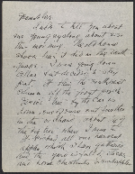 [Arthur Garfield Dove letter to Helen Torr Dove page 1]
