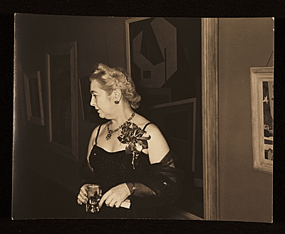 [Edith Gregor Halpert in an evening dress]