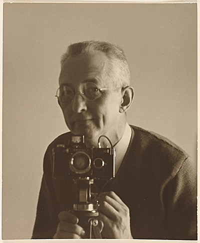 [Charles Sheeler with a camera]