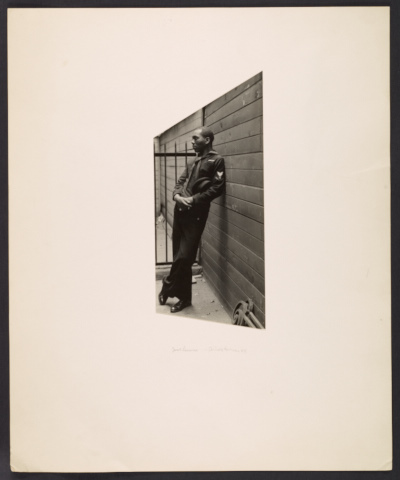 Jacob Lawrence in a Coast Guard uniform