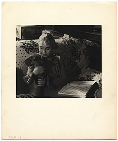 Edith Halpert with her dog