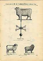 [Catalogue of weather vanes manufactured by L.W. Cushing and Sons page 14]