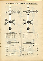 [Catalogue of weather vanes manufactured by L.W. Cushing and Sons page 16]