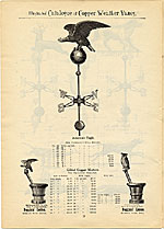 [Catalogue of weather vanes manufactured by L.W. Cushing and Sons page 19]