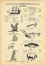 [Catalogue of weather vanes manufactured by L.W. Cushing and Sons page 20]