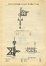 [Catalogue of weather vanes manufactured by L.W. Cushing and Sons page 3]