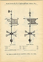 [Catalogue of weather vanes manufactured by L.W. Cushing and Sons page 4]