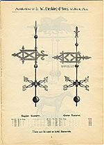 [Catalogue of weather vanes manufactured by L.W. Cushing and Sons page 6]