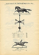 [Catalogue of weather vanes manufactured by L.W. Cushing and Sons page 8]