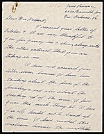 Jacob Lawrence, New Orleans, La. letter to Edith Gregor Halpert, New York, N.Y.