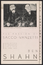 [Downtown Gallery exhibit brochure for Ben Shahn's The passion of Sacco-Vanzetti ]