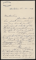 Alexander Doyle letter to Fanibelle B. Johnson