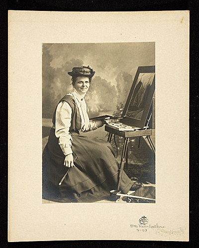 Dorothea A. Dreier seated at an easel