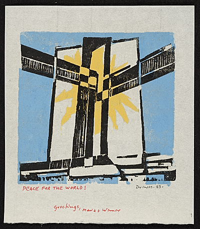 Werner Drewes Christmas card