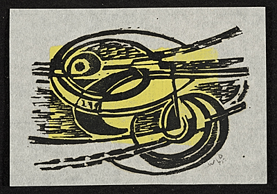 Werner Drewes abstract print