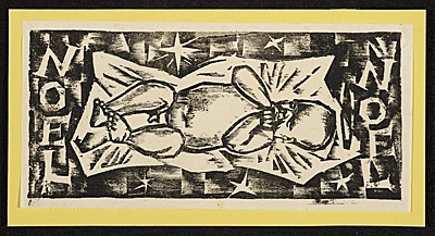 [Werner Drewes Christmas card to unidentified recipient]