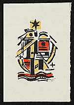 Werner Drewes Christmas card to unidentified recipient