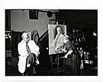 Peitro Pezzati painting a portrait of Lawrence Robbins