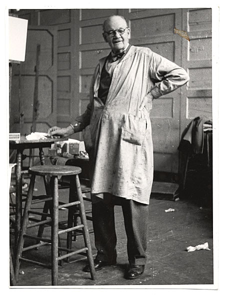 Frank DuMond in his studio
