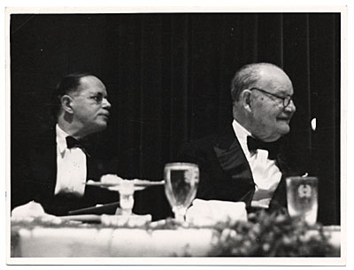 [Frank DuMond at anniversary dinner]