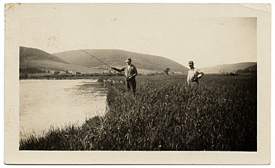Frank DuMond fishing at Cape Breton Island