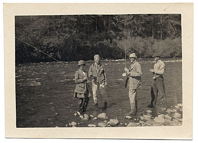 [Frank Vincent DuMond and friends fishing]
