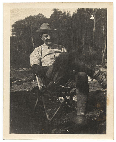 Frank DuMond in camp