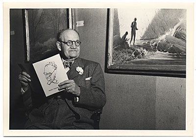 Frank DuMond at an exhibition