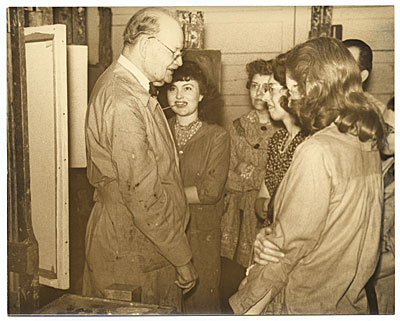 Frank DuMond with students