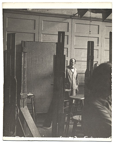 Frank DuMond at an easel