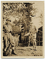 Frank DuMond and Willard Metcalf fishing