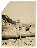 Frank DuMond fishing with a guide