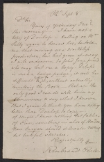Rembrandt Peale letter to unidentified recipient