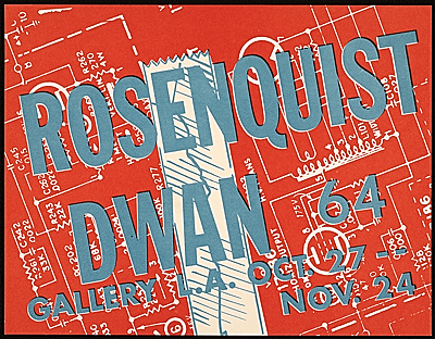 Dwan Gallery flyer for a James Rosenquist exhibition