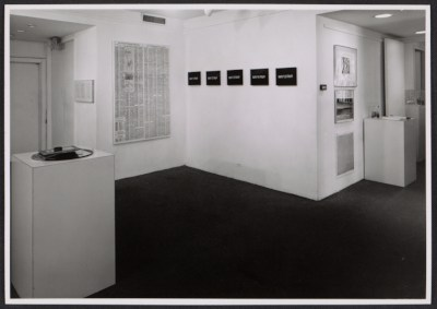 Installation view of the Language III exhibition at the Dwan Gallery in New York
