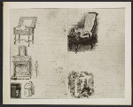 A photograph of drawings from a letter (1866-1867) that Thomas Eakins wrote to his mother