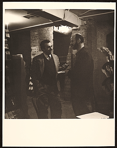 Lawrence Ferlinghetti at the City Lights Bookstore