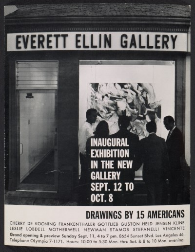 [An exhibition announcement for the Everett Ellin Gallery's Inaugural Exhibition in the New Gallery]