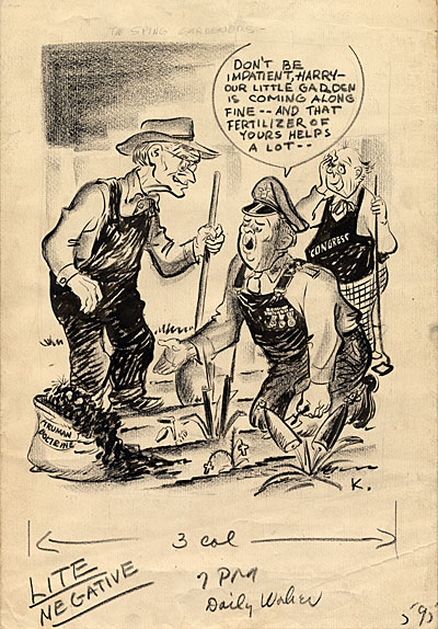 [Cartoon of President Truman]