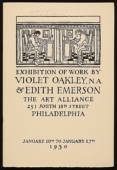 Exhibition catalog of work by Violet Oakley & Edith Emerson