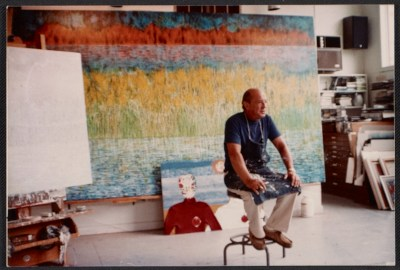 Jimmy Ernst in his studio