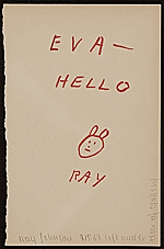 Ray Johnson note to Eva Lee, Great Neck, N.Y.