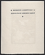 [Diana and Norman Kent Christmas card to Ralph Fabri 1]