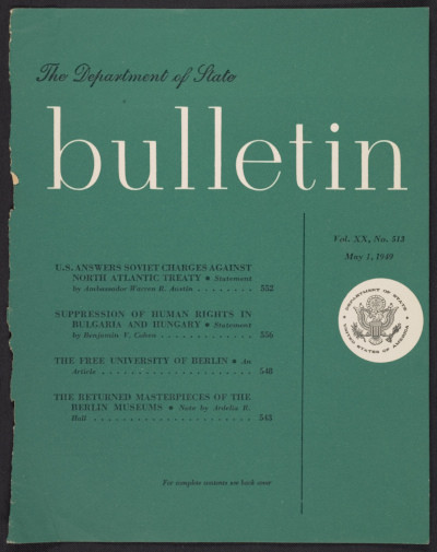 Department of State bulletin, vol. XX, no. 513