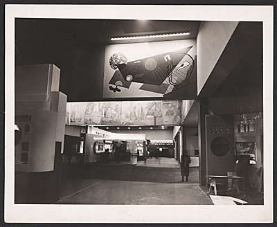 Murals by Louis Schanker and Abraham Lishinsky in the Medical and Public Health Building at the New York Worlds Fair