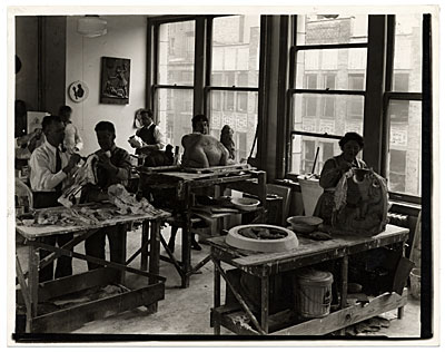 Sculpture workshop of the Federal Art Project