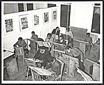 Students in a free art class at the Harlem Art Center, 290 Knox Avenue
